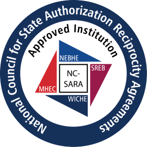 seal of National Council for State Authorization Reciprocity Agreement approved institution
