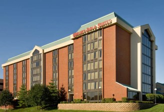 exterior of Drury Inn and Suites in Overland Park, KS