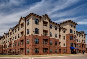 exterior of Oklahoma City University communter housing