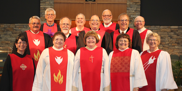 A group of our past Course of Study (COS) graduates. COS is prescribed by The United Methodist Church for the education of persons serving as Local Pastors.