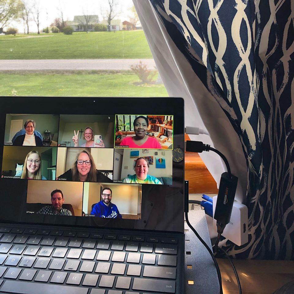 e-class room on video call