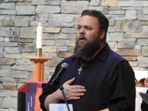Pastor giving a sermon